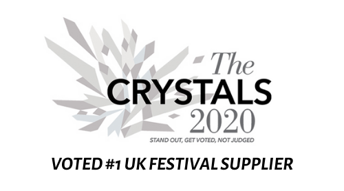 Standout Magazine's The Crystals 2020 award logo: UK's #1 Festival Supplier