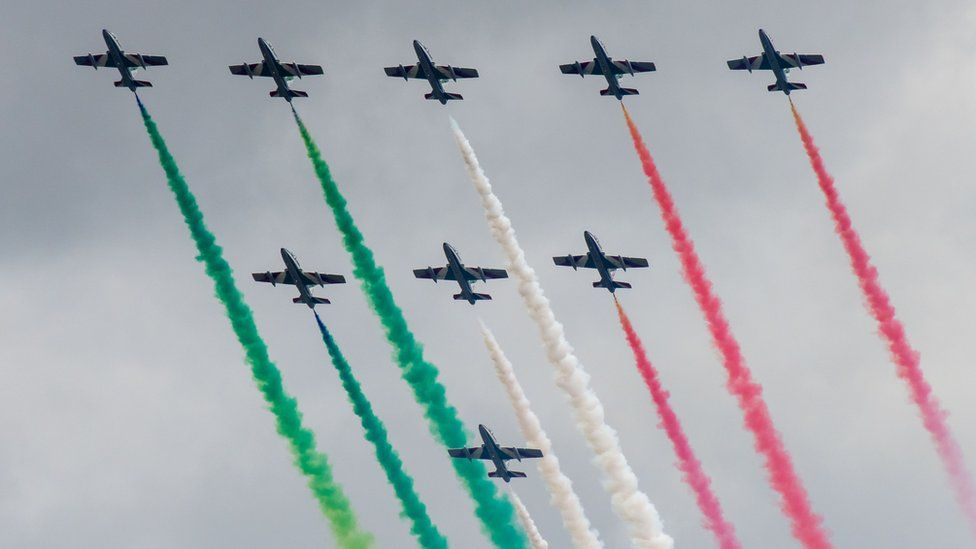 The Royal International Air Tattoo features military aircraft from countries all over the world