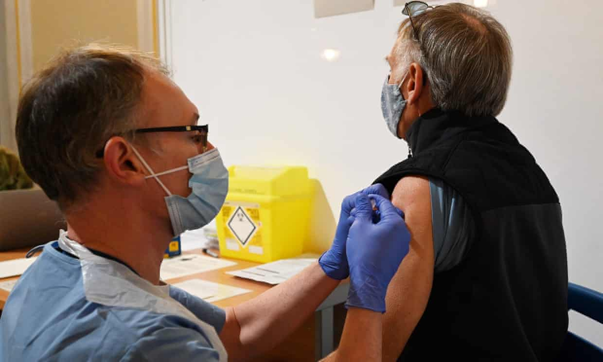 Man being vaccinated