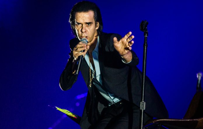Nick Cave performing live on stage