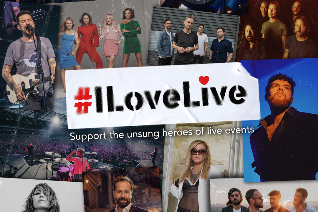 #ILoveLive logo and supporters