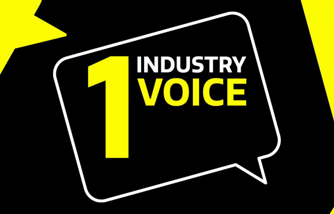One industry one voice banner