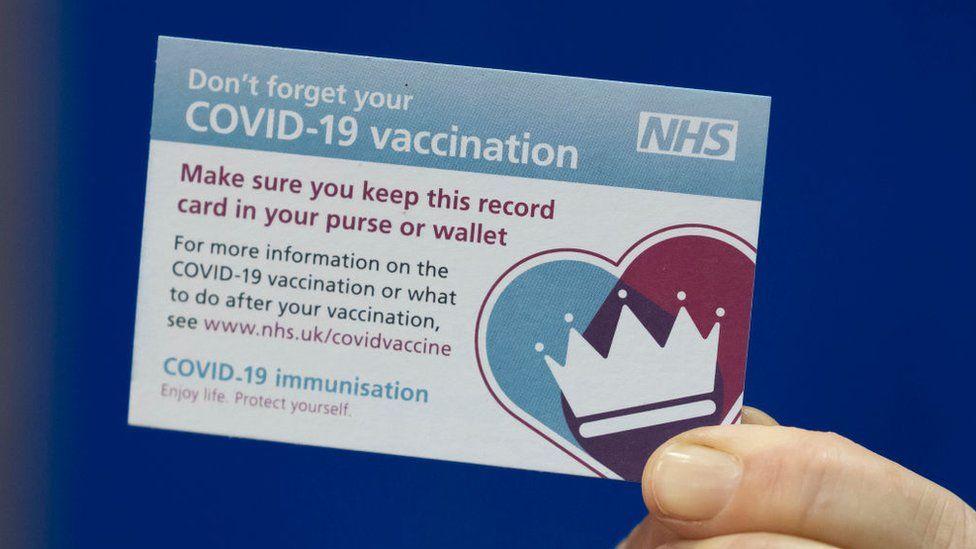 Immunisation record card