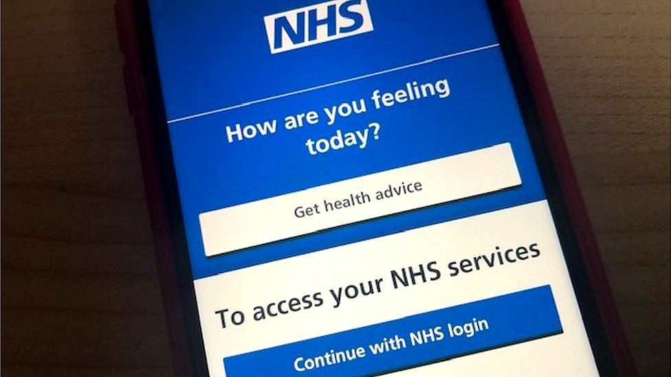 NHS app currently used for booking appointments in England