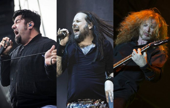 Deftones, Korn and Megadeth will all play Download 2022. Credit: Getty Images.