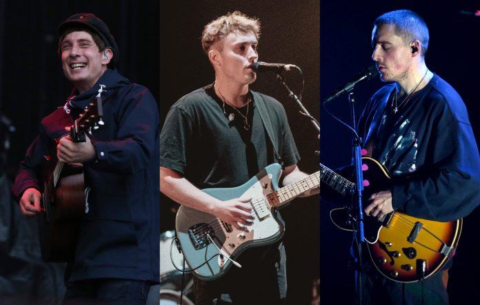 Gerry Cinnamon, Sam Fender and Dermot Kennedy perform live. CREDIT: Getty