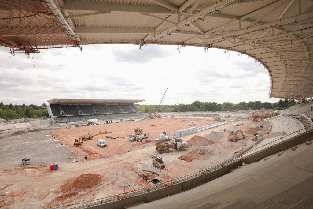 Alexander Stadium construction