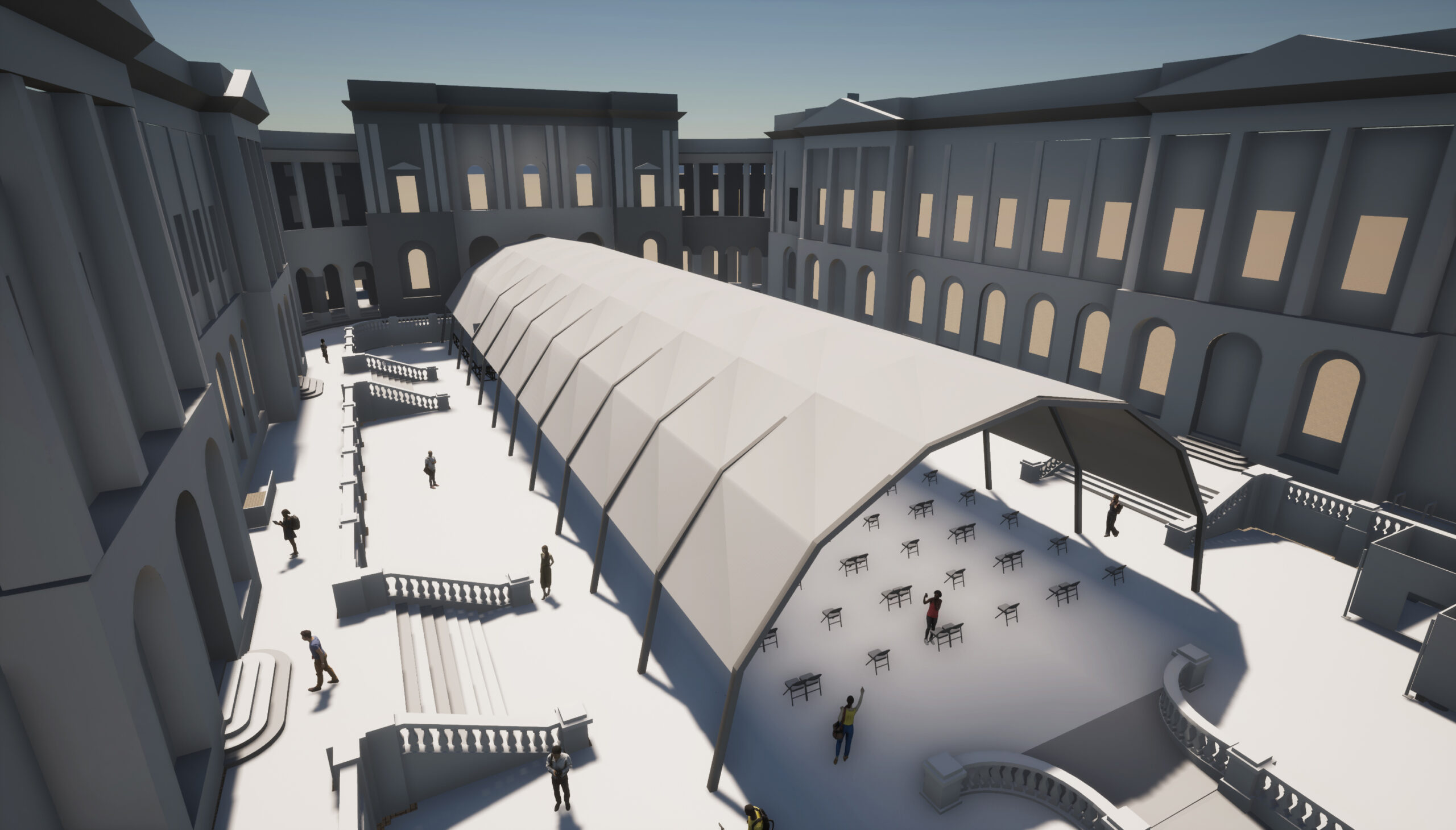 3D impression of a performance venue to be used at the Old CollegeQuad