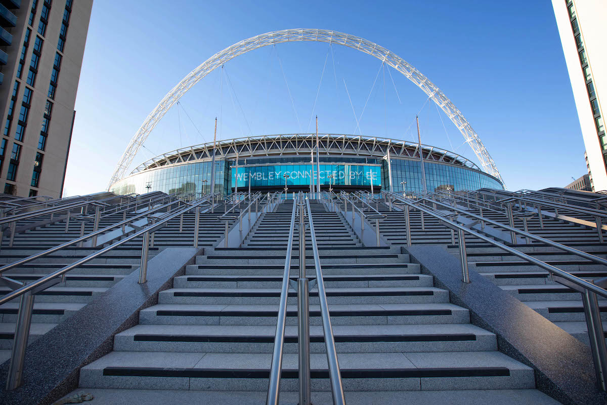 Olympic Steps at Wembley Park in London