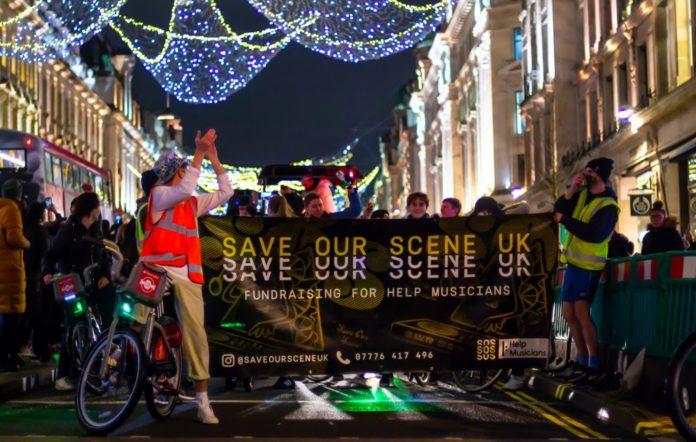 Save Our Scene protest. CREDIT: Press