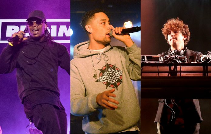 Rudimental, Loyle Carner and Jamie xx CREDIT: Getty Images