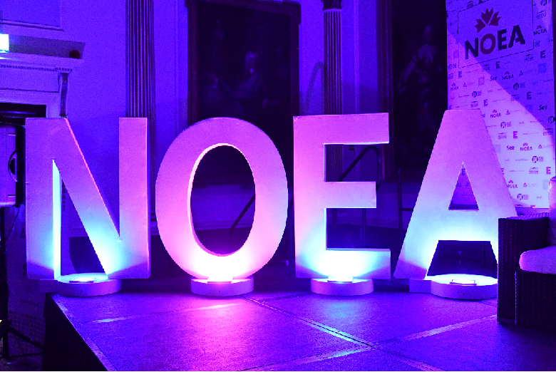NOEA neon sign