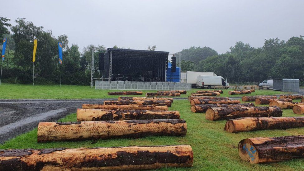 Stendhal Festival seating area