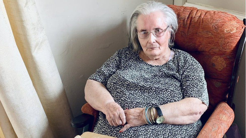Anne Webb, 85, from Treorchy, is believed to be the first care home resident in the UK to receive a booster jab