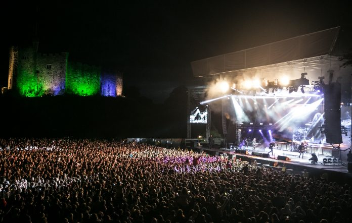 A gig at Cardiff Castle. Credit: Mike Lewis Photography/Redferns.