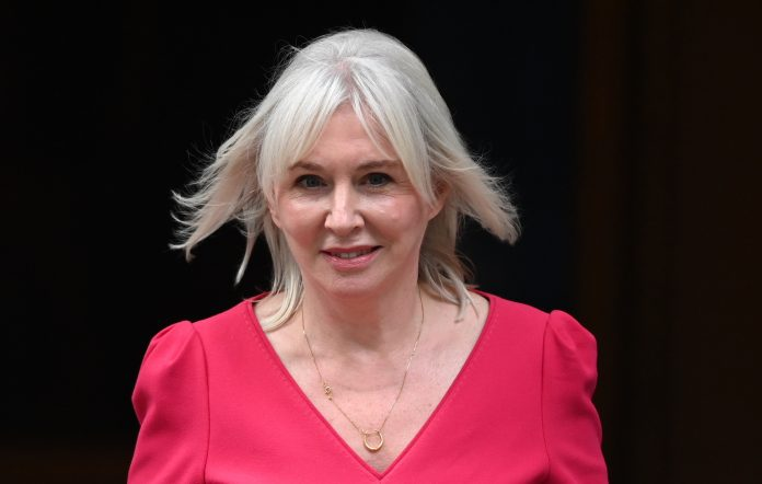 Newly appointed Culture Secretary Nadine Dorries departs Downing Street on September 15, 2021 in London, England. Credit: Leon Neal/Getty Images.